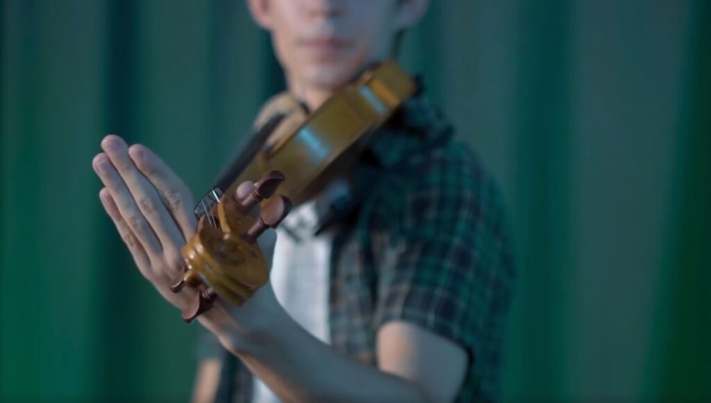 como segurar o violino