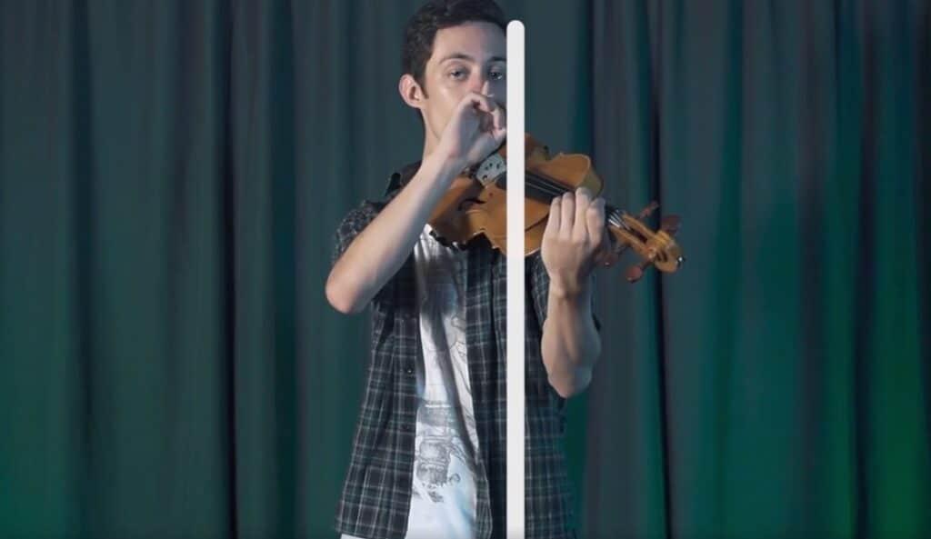 Como segurar o violino - linha imaginária - Caio Filipe Planeta Música